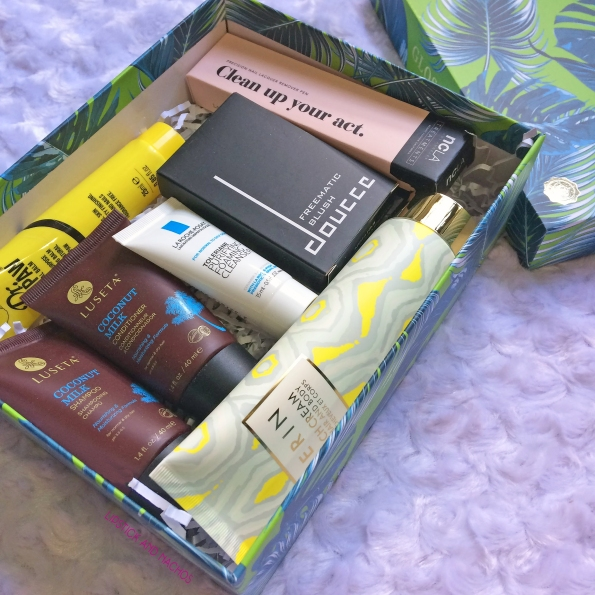 glossybox july 2017 tropical beauty all