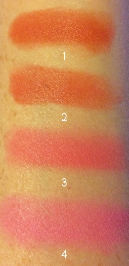makeup revolution blush palette swatches 1