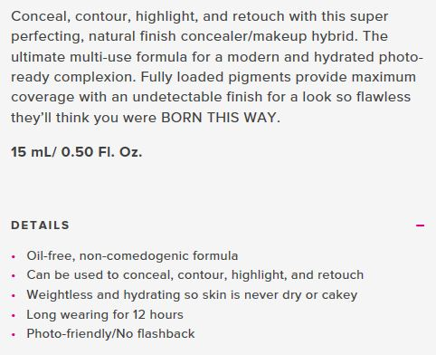 Born This Way Concealer details