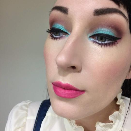 Zodiac colourpop blue eye look makeup lipstickandnachos
