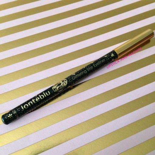 Boxycharm Goal Digger Jonteblu Glitter Star Eyeliner Lipstick and Nachos