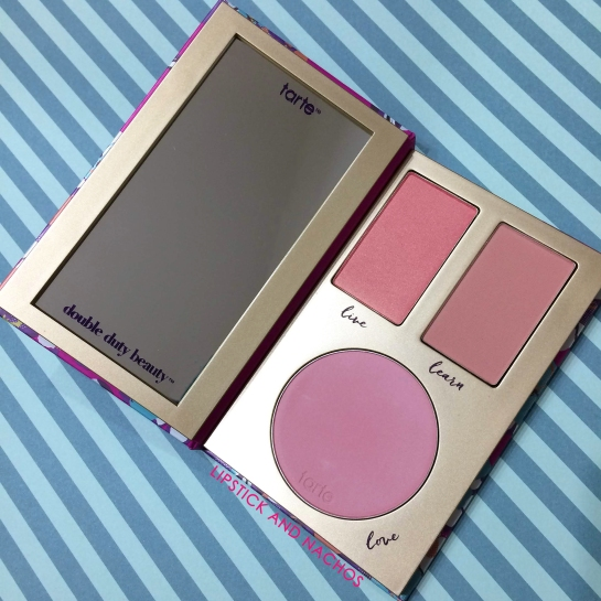 Tarte Double Duty Contour Blush Palette 2 Ipsy Glam Plus Lipstick and Nachos