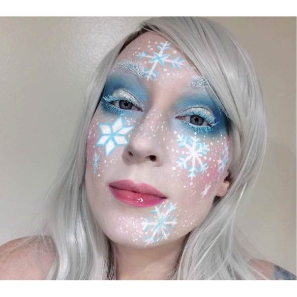 snowflake makeup look 2 lipstick and nachos