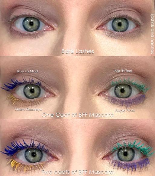 Colourpop BFF Mascara Color Swatches lipstickandnachos