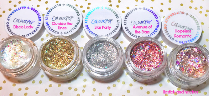 Colourpop Gliterally Obsessed Body Glitter Color Swatches lipstickandnachos