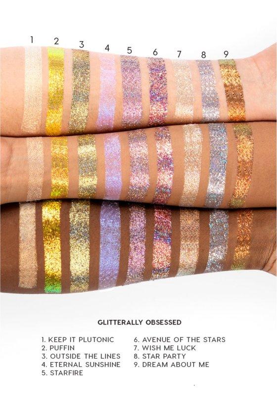 Colourpop Gliterally Obsessed Glitter Paste Swatches lipstickandnachos