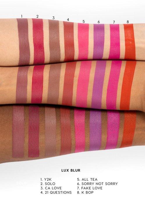 Colourpop Velvet Blur Lux Lipstick Swatches