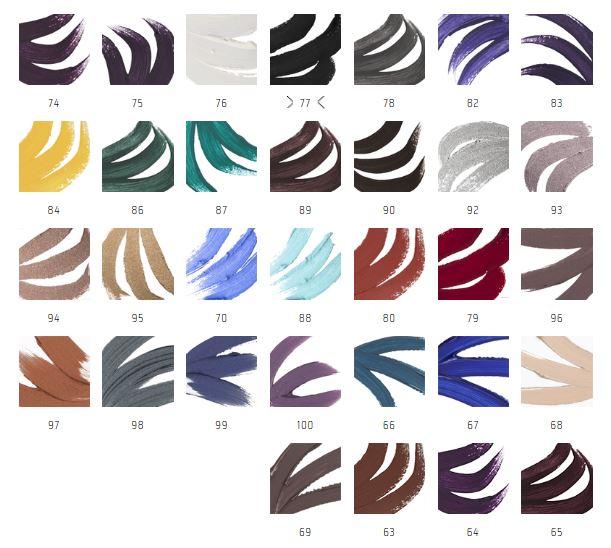Inglot AMC Gel Liners Shade Range
